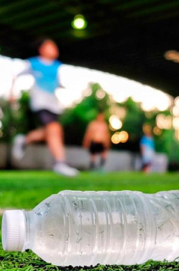 Hidratación en los futbolistas